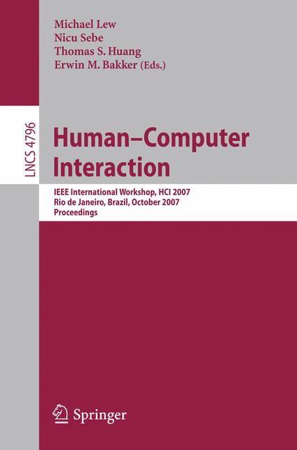 Abbildung von Lew / Sebe / Huang / Bakker | Human-Computer Interaction | 2007