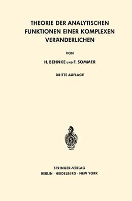 Abbildung von Behnke / Sommer | Theorie der Analytischen Funktionen Einer Komplexen Veränderlichen | 3. Aufl. 1965. 2. Nachdruck | 1976 | 77