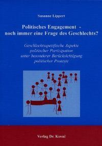 Abbildung von Lippert | Politisches Engagement - noch immer eine Frage des Geschlechts? | 2002