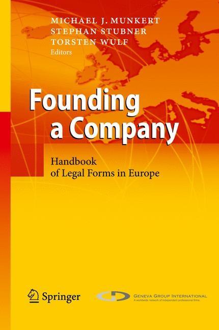 Abbildung von Munkert / Stubner / Wulf | Founding a Company | 2010