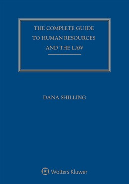Abbildung von Shilling | Complete Guide to Human Resources and the Law | 1. Auflage | 2019 | beck-shop.de