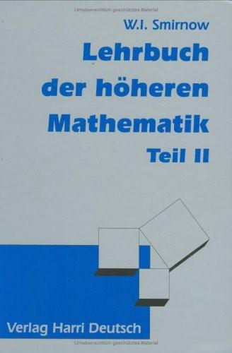 Abbildung von Smirnow | Lehrbuch der höheren Mathematik Teil II | 1990