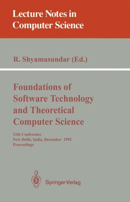 Abbildung von Shyamasundar | Foundations of Software Technology and Theoretical Computer Science | 1992