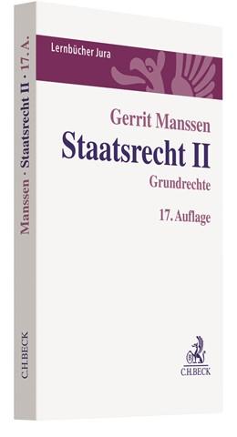 Abbildung von Manssen   Staatsrecht II   17. Auflage   2020   Grundrechte