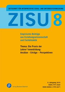 Abbildung von Herzmann / Kunze | ZISU – Zeitschrift für interpretative Schul- und Unterrichtsforschung | 1. Auflage | 2019 | 8 | beck-shop.de