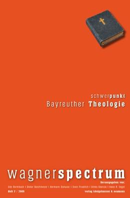 Abbildung von Bermbach / Borchmeyer / Danuser / Friedrich / Kienzle / Vaget | wagnerspectrum | 2010 | Heft 2 / 2009 / 5. Jahrgang. S...