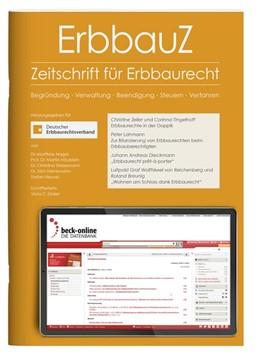 Abbildung von ErbbauZ • Zeitschrift für Erbbaurecht | 1. Jahrgang | 2020 | Begründung, Verwaltung, Beendi...