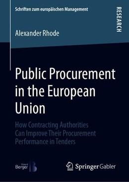 Abbildung von Rhode   Public Procurement in the European Union   1st ed. 2019   2019   How Contracting Authorities Ca...