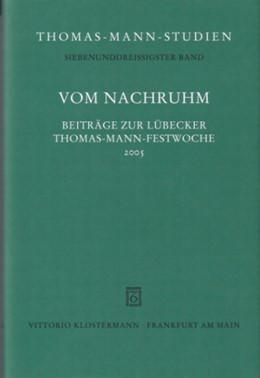 Abbildung von Wimmer / Wisskirchen | Vom Nachruhm | 2007 | Beiträge zur Lübecker Festwoch... | 37