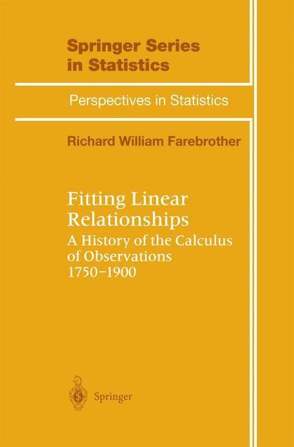 Abbildung von Farebrother | Fitting Linear Relationships | 1998
