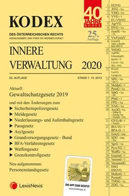 Abbildung von Doralt | KODEX Innere Verwaltung 2020 | 25. Auflage | 2019
