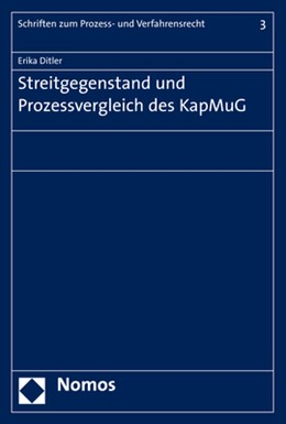 Abbildung von Ditler | Streitgegenstand und Prozessvergleich des KapMuG | 1. Auflage | 2019 | 3 | beck-shop.de
