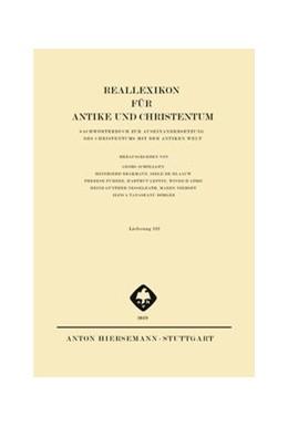 Abbildung von Reallexikon für Antike und Christentum | 1. Auflage | 2019 | beck-shop.de