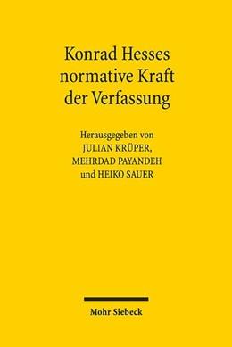 Abbildung von Krüper / Payandeh | Konrad Hesses normative Kraft der Verfassung | 1. Auflage | 2019 | beck-shop.de