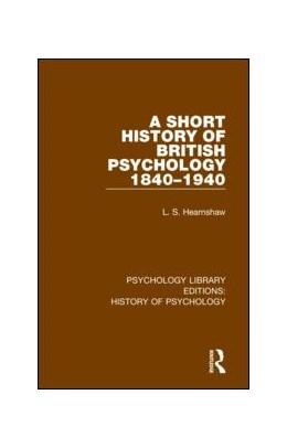 Abbildung von Hearnshaw | A Short History of British Psychology 1840-1940 | 1. Auflage | 2019 | 3 | beck-shop.de