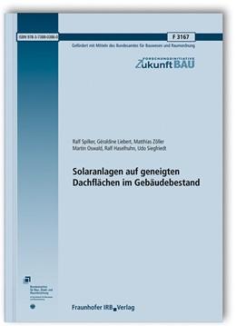 Abbildung von Spilker / Liebert | Solaranlagen auf geneigten Dachflächen im Gebäudebestand. | 1. Auflage | 2019 | beck-shop.de