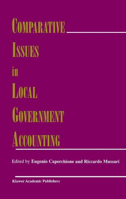Abbildung von Caperchione / Mussari | Comparative Issues in Local Government Accounting | 1999