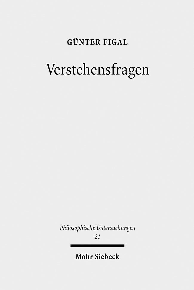 Abbildung von Figal | Verstehensfragen | 2009
