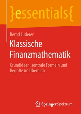 Abbildung von Luderer   Klassische Finanzmathematik   1. Auflage   2020   beck-shop.de