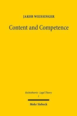 Abbildung von Weissinger | Content and Competence | 1. Auflage | 2019 | beck-shop.de