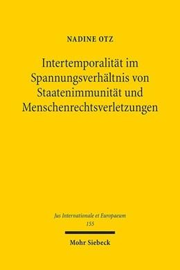 Abbildung von Otz | Intertemporalität im Spannungsverhältnis von Staatenimmunität und Menschenrechtsverletzungen | 1. Auflage | 2019 | beck-shop.de