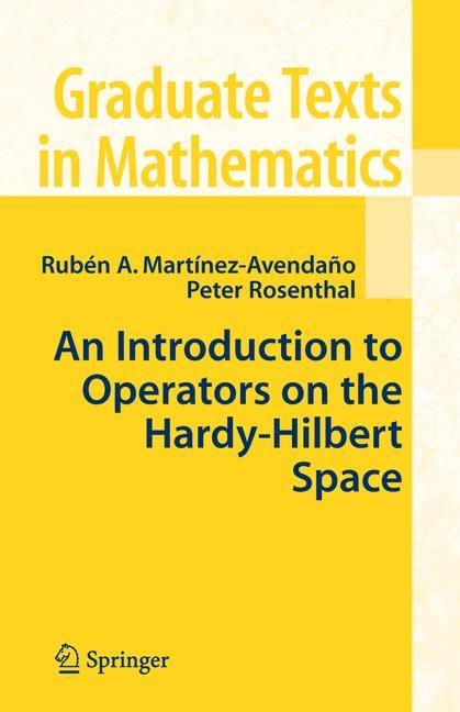 Abbildung von Martinez-Avendano / Rosenthal | An Introduction to Operators on the Hardy-Hilbert Space | 2006