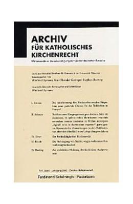 Abbildung von Aymans   Archiv für Katholisches Kirchenrecht   1. Aufl. 2004   2004