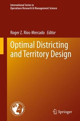 Abbildung von Ríos-Mercado | Optimal Districting and Territory Design | 1st ed. 2020 | 2020 | 284