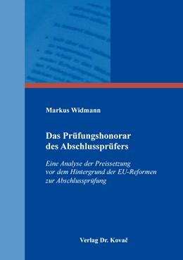 Abbildung von Widmann | Das Prüfungshonorar des Abschlussprüfers | 2019 | Eine Analyse der Preissetzung ... | 514