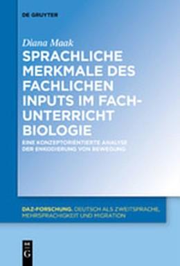 Abbildung von Maak | Sprachliche Merkmale des fachlichen Inputs im Fachunterricht Biologie | 1. Auflage | 2020 | beck-shop.de