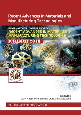 Abbildung von Rao / Venkateswarlu   Recent Advances in Materials and Manufacturing Technologies   1. Auflage   2019   Volume 969   beck-shop.de