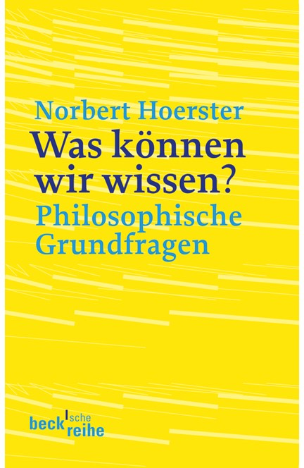 Cover: Norbert Hoerster, Was können wir wissen?