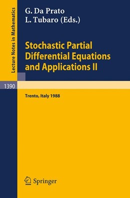 Abbildung von Da Prato / Tubaro | Stochastic Partial Differential Equations and Applications II | 1989 | Proceedings of a Conference he... | 1390