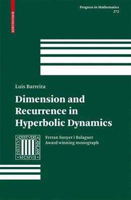 Abbildung von Barreira | Dimension and Recurrence in Hyperbolic Dynamics | 2008 | 272