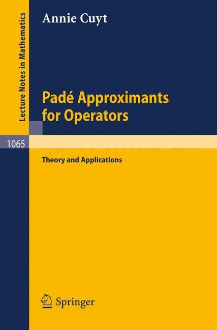 Abbildung von Cuyt | Pade Approximants for Operators | 1984