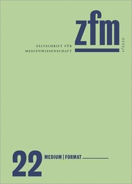 Abbildung von Zeitschrift für Medienwissenschaft 22   2020   Jg. 12, Heft 1/2020: Medium - ...