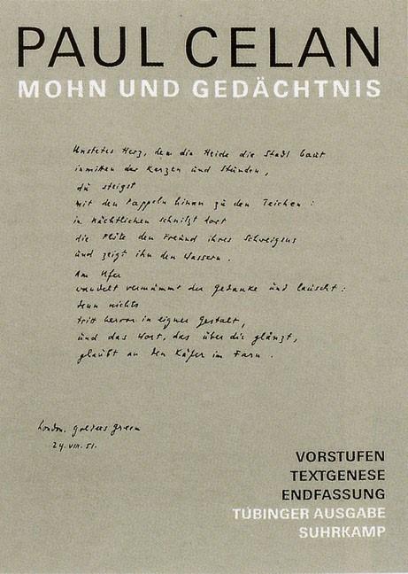 Abbildung von Celan / Wertheimer | Werke. Tübinger Ausgabe | 2004
