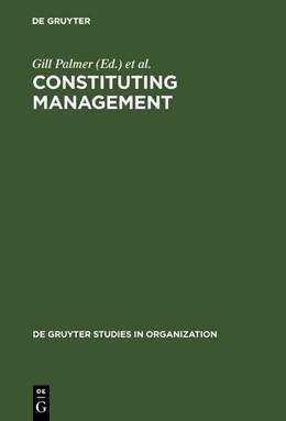 Abbildung von Palmer / Clegg | Constituting Management | Reprint 2017 | 1996 | Markets, Meanings, and Identit... | 71