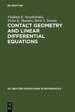 Abbildung von Nazaikinskii / Shatalov / Sternin   Contact Geometry and Linear Differential Equations   Reprint 2011   1992