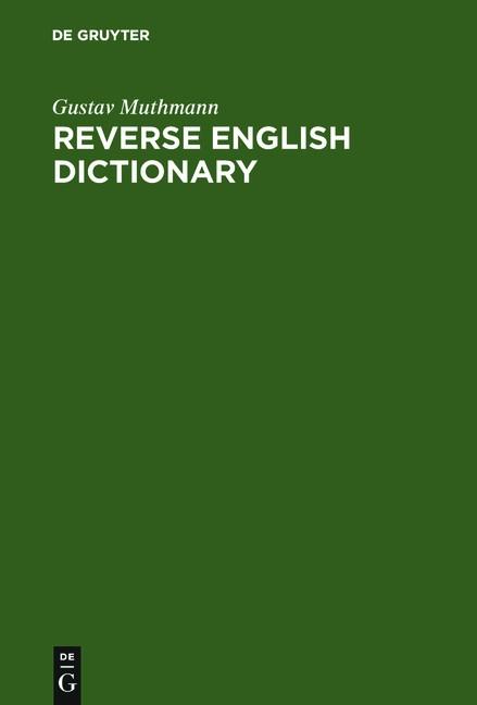 Abbildung von Muthmann | Reverse English Dictionary | 2002