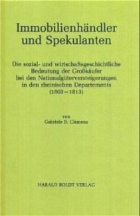 Abbildung von Clemens | Immobilienhändler und Spekulanten | Reprint 2014 | 1996