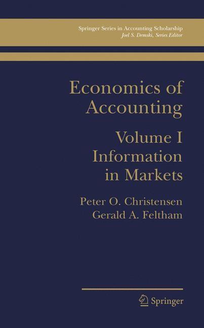 Abbildung von Christensen / Feltham | Economics of Accounting | 2004