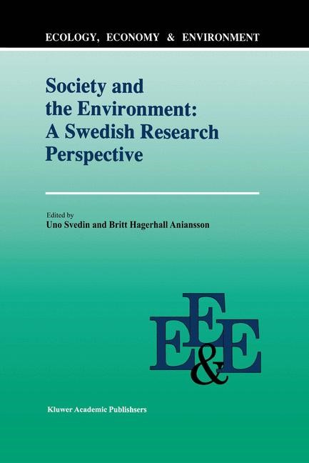 Abbildung von Svedin / Aniansson   Society And The Environment: A Swedish Research Perspective   1992