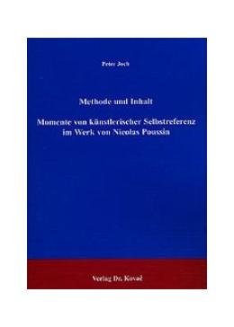 Abbildung von Joch | Methode und Inhalt - Momente von künstlerischer Selbstreferenz im Werk von Nicolas Poussin | 2003 | 2