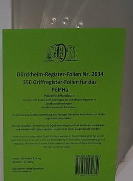 Abbildung von von Dürckheim   350 Dürckheim-Griffregister-Folien für das PolFHa   1. Auflage   2019   beck-shop.de