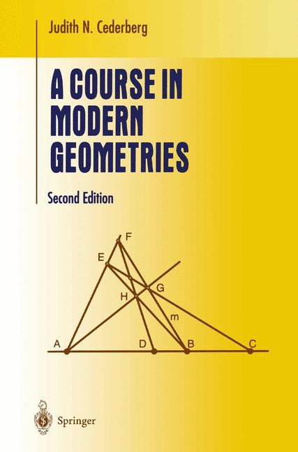 Abbildung von Cederberg   A Course in Modern Geometries   2nd ed. 2001. Corr. 2nd printing   2004
