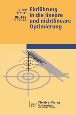 Abbildung von Marti / Gröger | Einführung in die lineare und nichtlineare Optimierung | 2000