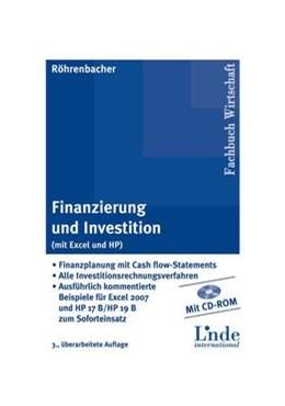 Abbildung von Röhrenbacher   Finanzierung und Investition (mit Excel und HP)   3. , überarbeitete Auflage   2009