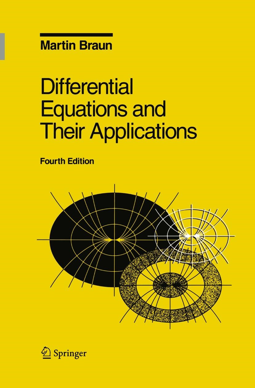 Differential Equations and Their Applications | Braun | 4th ed., 1992 | Buch (Cover)