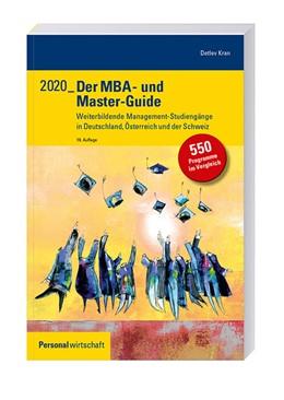 Abbildung von Kran | Der MBA- und Master-Guide 2020 | 19. Auflage | 2019 | Weiterbildende Management-Stud...